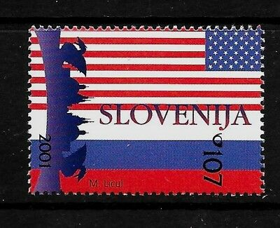 SLOVENIA Sc 463 NH ISSUE of 2001 - PRESIDENTS OF USA & RUSSIA