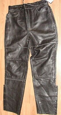 "Victory Motorcycle Polaris Leather Pants - Size 42/14 - 34"" W Unhemmed Legs NWT"