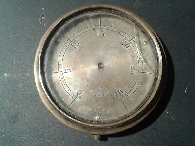 Rare Antique Vacuum Gauge all bronze and brass, by: American Steam