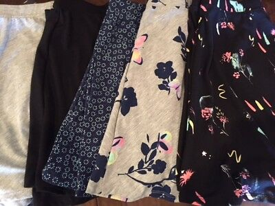 NWT So Skater Skirt Black, Gray, Navy Floral, Neon Paint, Happy Face 12 14 16