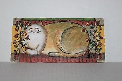 E. Smithson 3-D Cat DEcorative Wall Plaque Buttercup