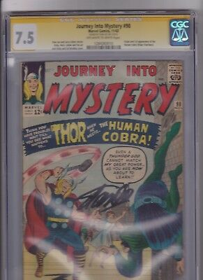 Journey Into Mystery #98 1st Human Cobra CGC 7.5 Stan Lee SS  (S. Lee story)