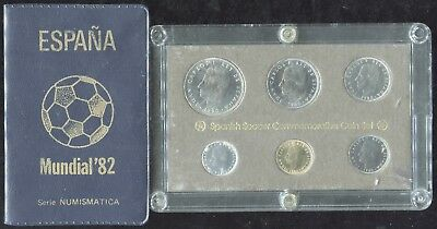 Set of 2 - 1980 Spain Uncirculated 6-Coin Set Commemorating the 1982 World Cup!!
