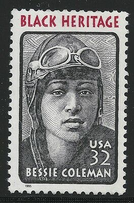 US Scott #2956, Single 1995 Bessie Coleman 32c VF MNH