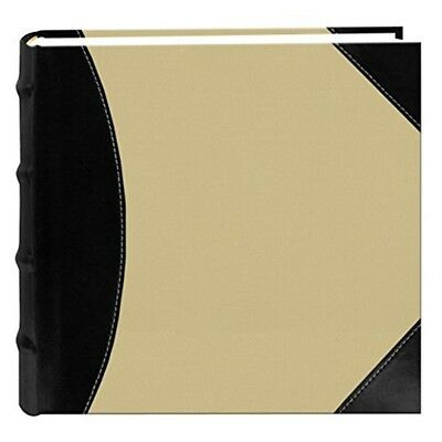 Pioneer High Capacity Sewn Fabric And Leatherette Cover Photo Album, Black On -