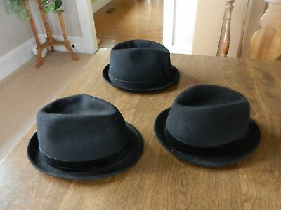 Boys Hats from Farmhouse Authentic German Dutch Mennonite Hats Lot of 3