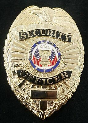 PB602 Security Officer Badge Gold Color Real Deal. Heavy Duty! FREE Shipping!