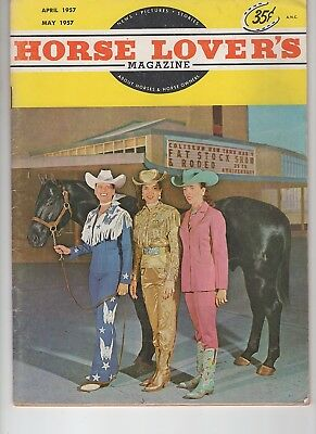 Horse Lovers Magazine April-May 1957 Steel Bars on cover Quarter