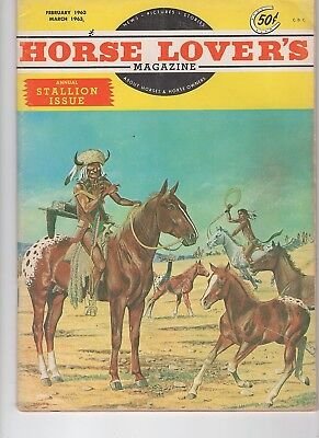 Horse Lovers Magazine Stallion Issue Feb-March 1963 Appaloosa on cover