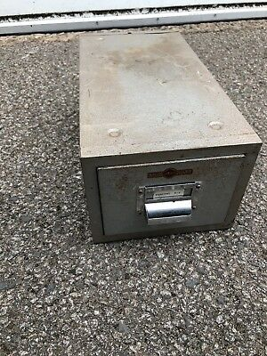 Vintage Criterion Steel Cabinet Metal Filing Drawer Silver/grey Made In England