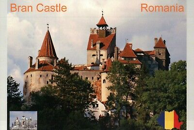 "Bran Castle Romania "" Home of Dracula,"" Transylvania, Europe Landmark - Postcard"