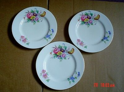 George Jones Crescent China JUNETIME Side Plates x 3