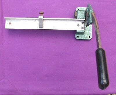 Letterpress Printing ADANA adjustable LEAD & RULE CUTTER for the Small Printer