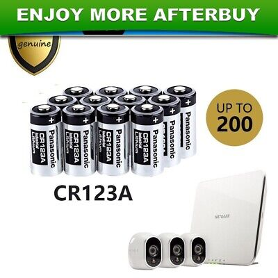 Panasonic 3V CR123A CR17345 Lithium Battery CR123 DL123A EL123A for Arlo Camera