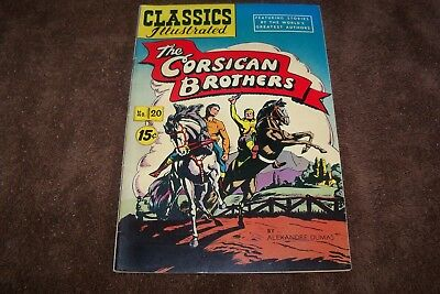 Classics Illustrated #20 HRN 62 - The Corsican Brothers (1944, Gilberton)