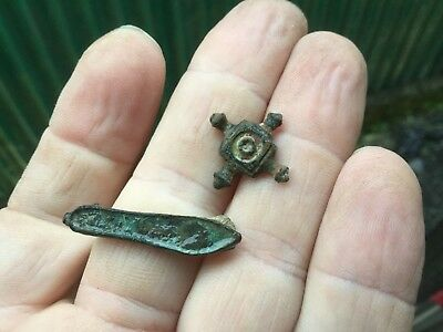 Ancient Roman Brooch And Mount
