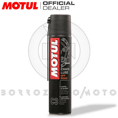 GRASSO LUBRIFICANTE SPRAY CHAIN LUBE MOTUL 400ml CATENA MOTOCROSS QUAD OFF-ROAD