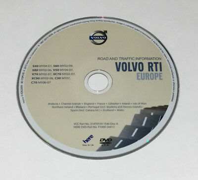 Latest 2015-2016 Volvo Aston Martin Rti Mmm Sat Nav Disc Europe Map Dvd