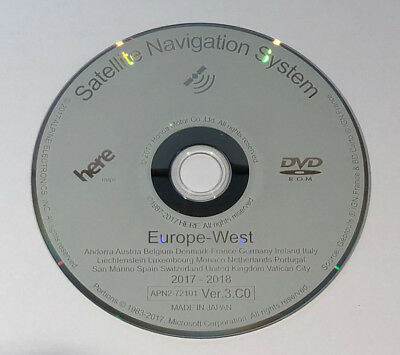 2018 Honda Europe Ver3.c0 Map Update Dvd Western Sat Nav Disc