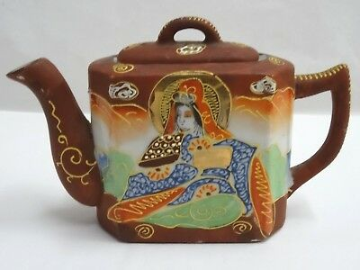 TT Japanese Moriage Satsuma Hand Painted Japan Mini Teapot