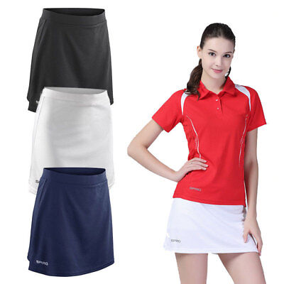 Womens 2 in1 Sport Leggings with Skirt funktionstights Tennis sports trousers Yoga Pants