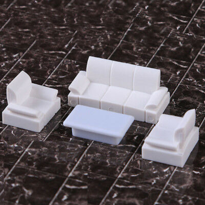 4Pcs Mini Furniture Sofa Couch Table For  Doll House Accessories Kids Toy