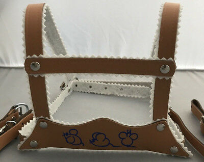 HARNESS REINS LEATHER for SILVER CROSS COACH BUILT BABY PRAM BEIGE
