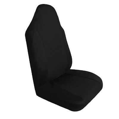 Car Single Front Seat Cover Breathable Cushion Pad Protective Black