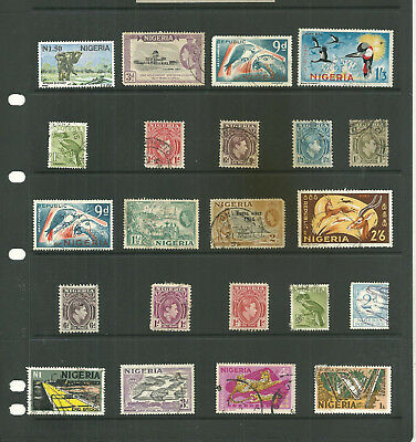 Commonwealth Nigeria   one stock sheet mix collection stamps
