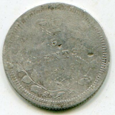 Canada 5 Cents silver 1858 large date   lotsep2841