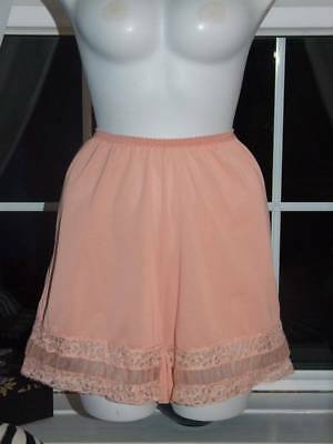 Vtg Taylor Woods Silky Nylon Lacy Wide Gusset French Knickers Tap Panties WX(T71
