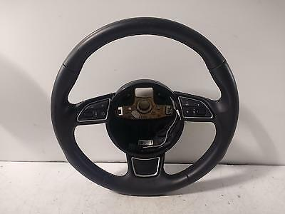 2013 AUDI A3 Mk3 (8V) 3 Spoke Black Leather Multifunction Steering Wheel 480