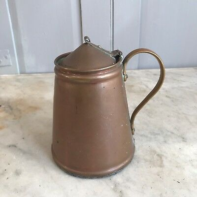 Antique Arts & Crafts Benson copper lidded jug