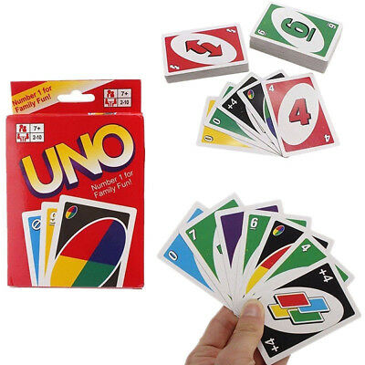 Standard 108 UNO Game Playing Cards for Family Friend Travel Instruction Fun Toy