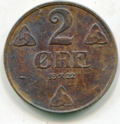 Norway 2 Ore  1922   lotsep2895