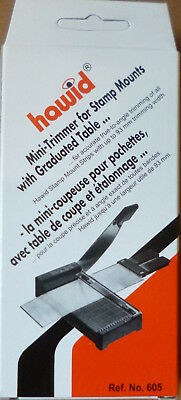 HAWID STAMP MOUNT CUTTER Mini GUILLOTINE Steel Blade Cuts up to 93mm No. 605