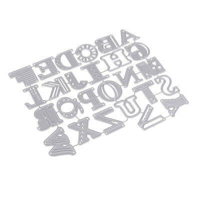 Die Cutting Dies Stencil Template 26 Alphabet Letters DIY Scrapbooks