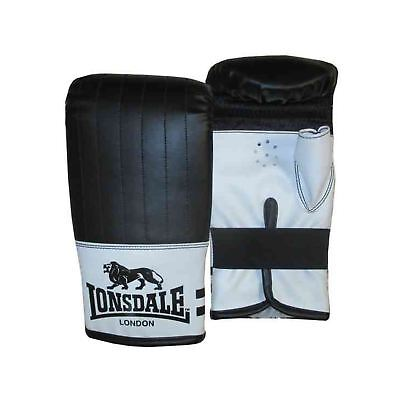 Lonsdale London Contender Bag Mitts Black/White Boxing Gloves Fitness Training