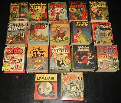 "Little Orphan Annie Bib Little Book Lot Of 17! Mr. ""d"" Collection! Golden Age!"