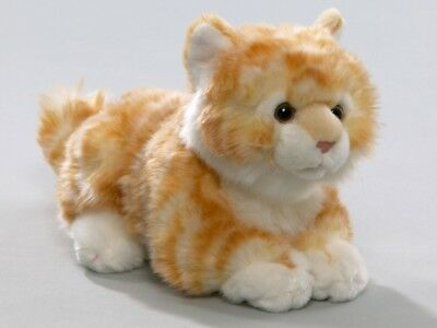 New Plush Cuddly Critters Ginger Tabby Cat With Sound Soft Toy Kitten Teddy