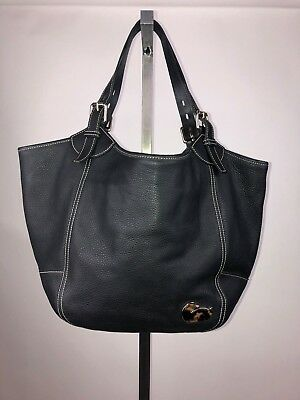 Dooney & Bourke Women's Black Pebbled Leather Large Tote Bag