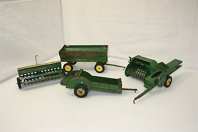 4 Vintage John Deere Tractor Farm Accessories, Trailer & More