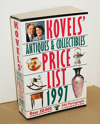 1997 Kovel's Antiques & Collectibles Price List Softcover Book With 500 Photos
