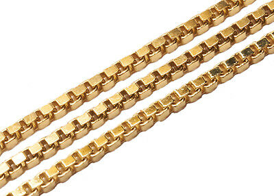 NEW HIGH QUALITY Italian 14KT Box Chain Necklace Mens Womens N11