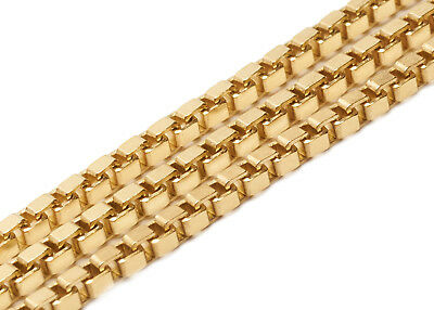 NEW HIGH QUALITY Italian 14KT Box Chain Necklace Mens Womens N5