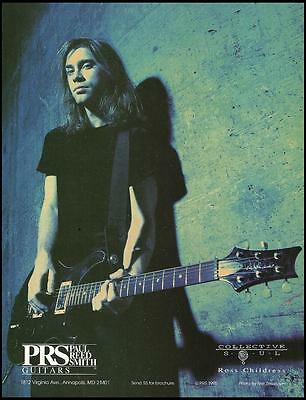 Ross Childress of Collective Soul 1995 PRS guitar ad 8 x 11 advertisement print