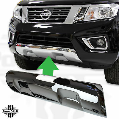 Front Bumper Skid Plate Cover CHROME for Nissan Navara NP300 accessories tekna