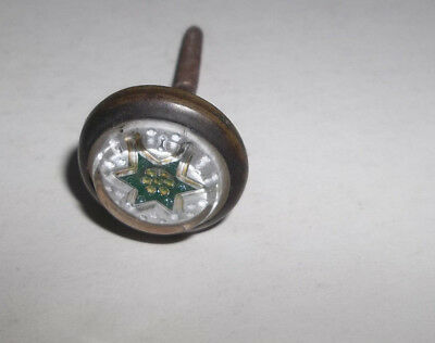 Antique Victorian Vtg Green 6 Point Star Picture Nail
