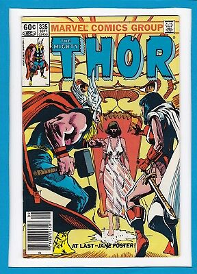 Mighty Thor #335_September 1983_Very Fine/near Mint_Jane Foster_Sif_Bronze Age!