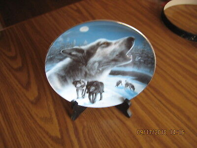 Plate Midnight Harmony Real Of The Wolf 1996 With Stand